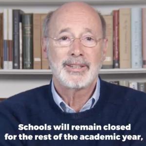 Gov. Wolf: School's Out 'Til Summer