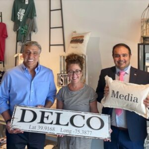 Barletta Touts Experience on Campaign Visit to Delaware County