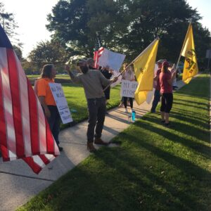 Merck & Co. Employees Protest 'Jab or Job' Vax Mandates